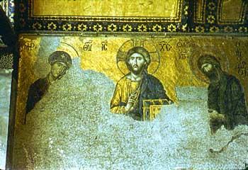 Costantinopoli, mosaico della basilica di S. Sofia