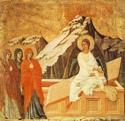Marie de Magdala au Tombeau dans images sacrée ni2